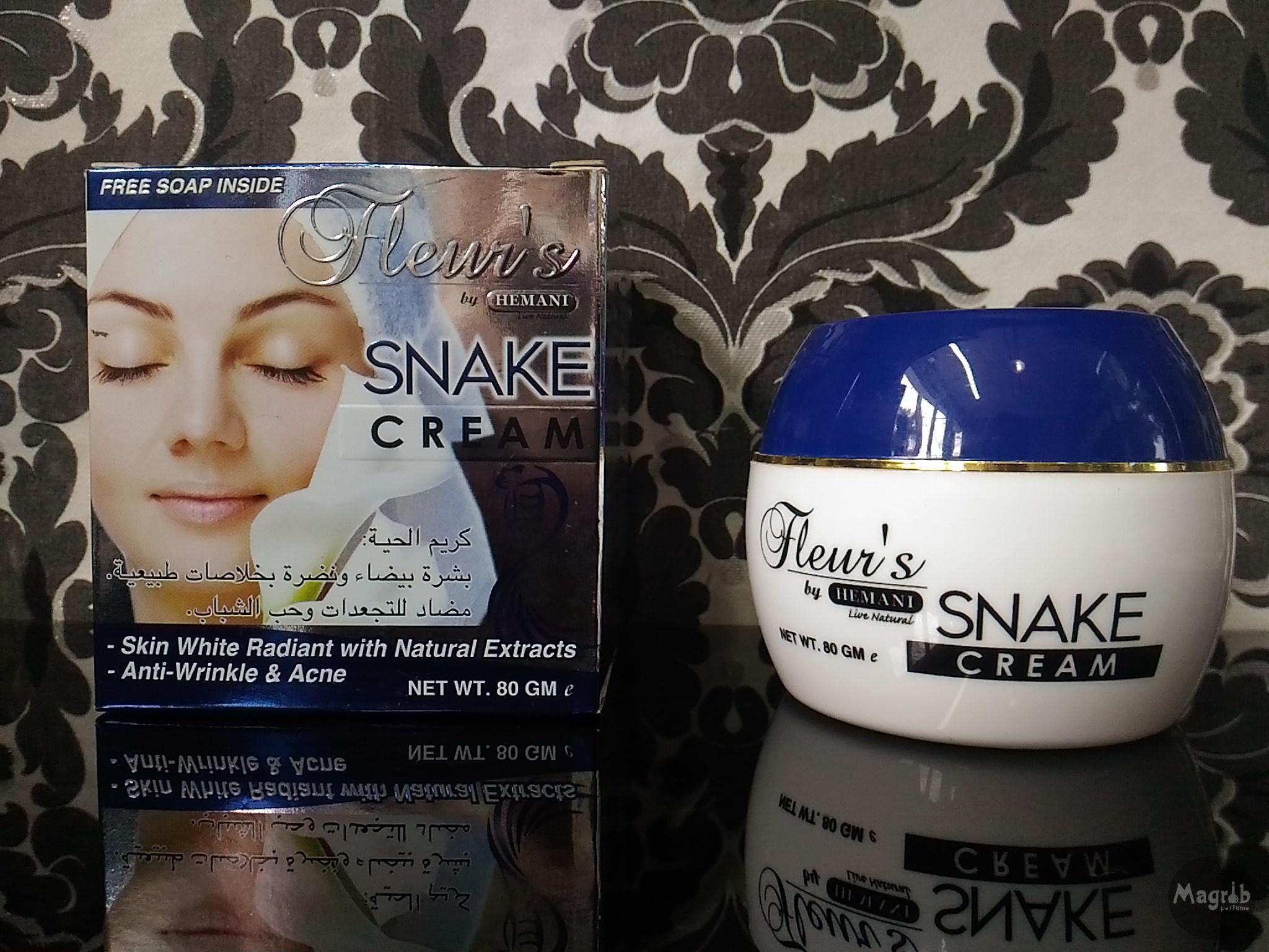 Hemani Fleurs Snake cream 80gr- крем с мылом с жиром кобры
