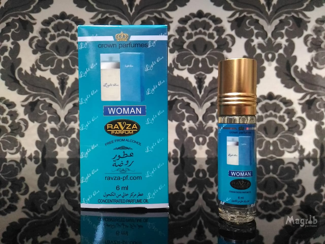 Ravza D&G Light blue 6ml - женские масляные духи