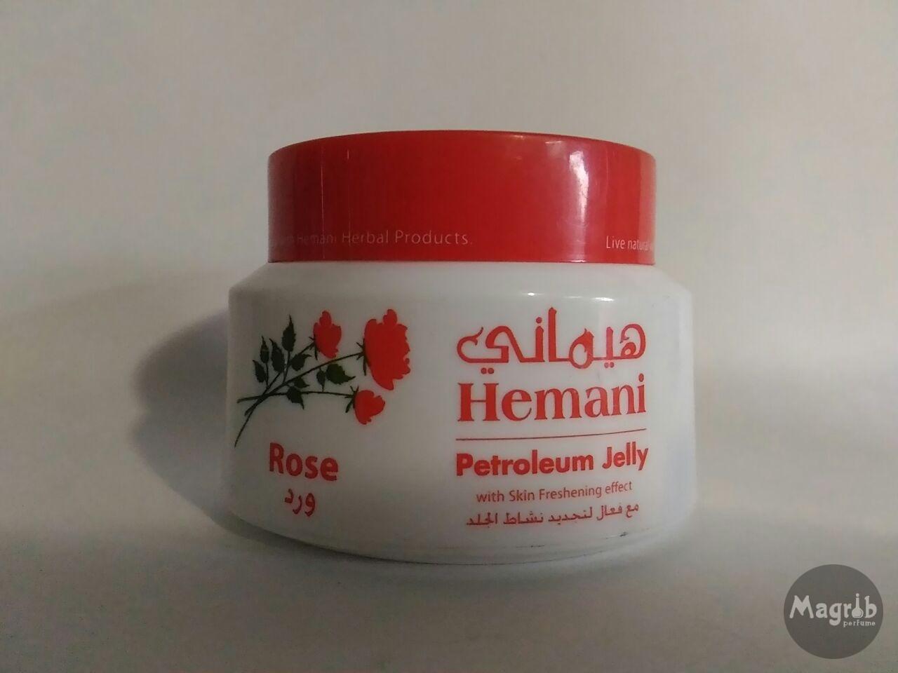 Hemani Petroleum Jelly Rose-вазелиновое желе с маслом розы.