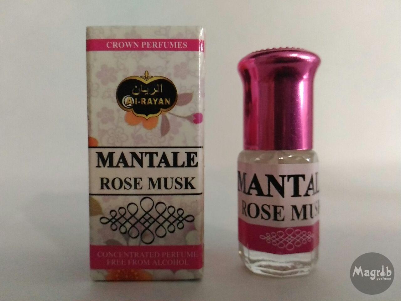Al-Rayan Mantale Rose Musk 3ml - женские масляные духи